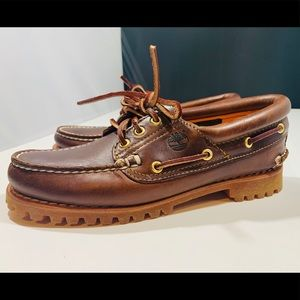 Timberland Burgundy Leather Moccasins NEW